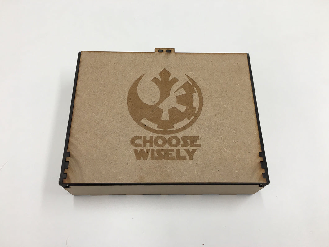 Star Wars Lcg Double deck and accessories storage box/tournament box  with customised engraving