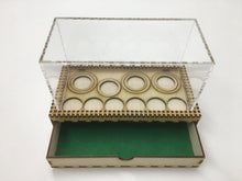 Medium tournament/display tray with felt lined drawer and magnetic sheet. Clear cover sold separately.