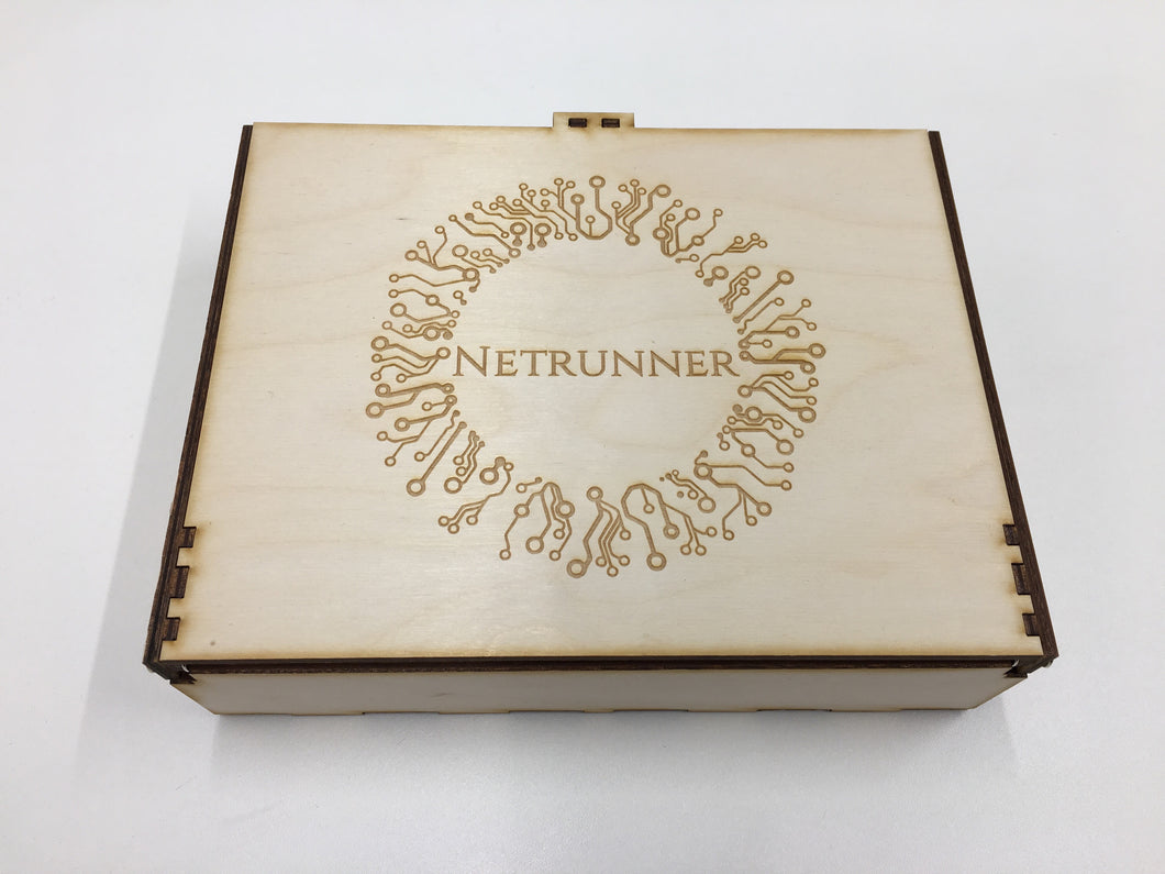 Netrunner Double deck and accessories storage box/tournament box  with customised engraving