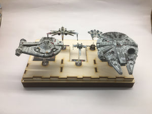 X-wing compatible template tray and tournament tray inc token section - fully magnetised - feldherr size