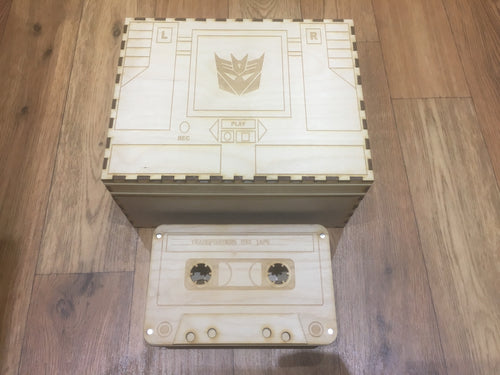 Transformers tcg compatible collection box with customisable engraving