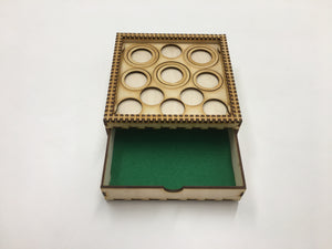 Tournament/display tray with felt lined drawer and magnetic sheet (Clear cover sold seperately)