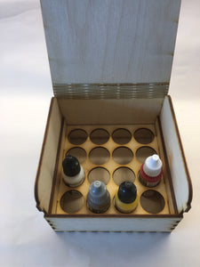Wooden dropper bottle storage box