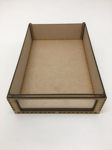 Miniature storage tray with clear acrylic window - 65mm