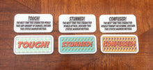 Superhero comic style tokens compatible with marvel Champions lcg, double sided, full colour.