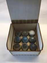 Wooden paint pot storage box