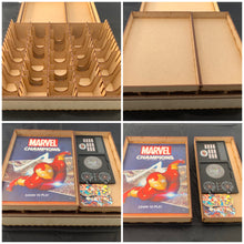 Mega card storage box with customisable engraving - Kallax unit compatible. Ideal for games like Marvel champions, pokemon,arkham horror etc Kallax unit compatible