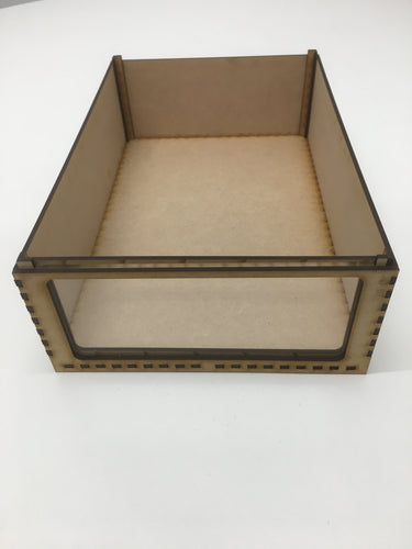 Miniature storage tray with clear acrylic window - 85mm