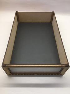 Miniature storage tray magnetic sheet insert