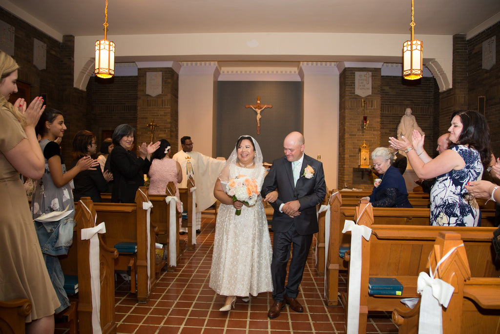 A small and intimate church wedding in Montreal to celebrate the couple's Filipino and Italian heritage.