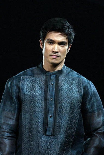 Black Barong Tagalog Diether Ocampo