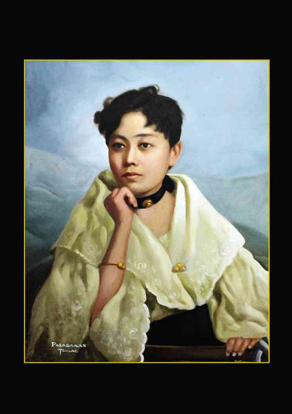 "A portrait of Leonor Rivera, Jose Rizal's ""lover by correspondence"", and the basis for the Noli Me Tangere character Maria Clara."
