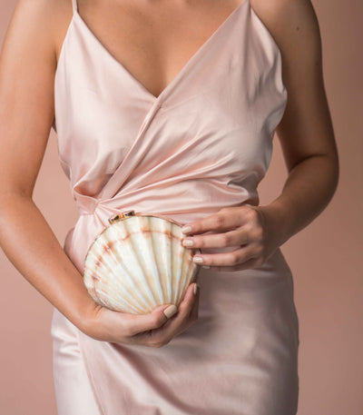 Ximena Clam Shell Clutch