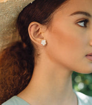 Gumamela Mother of Pearl Earrings