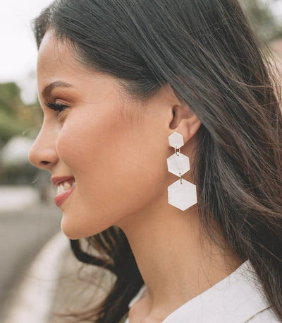 Priscilla Capiz Earrings