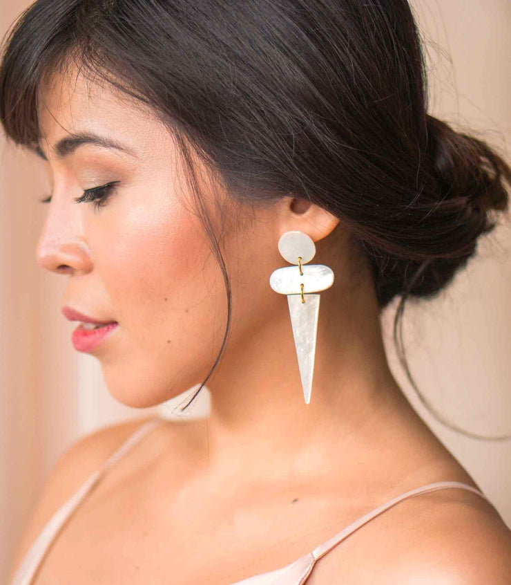Luciana Capiz Earrings