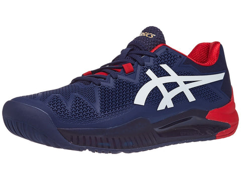 Tenis Asics Gel Resolution 8 Azul/blanco/rojo