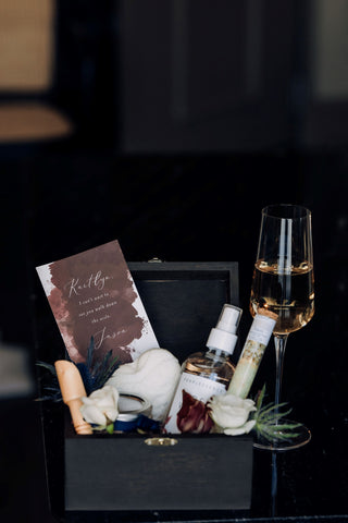 Bridesmaid Gift Box with wine glass