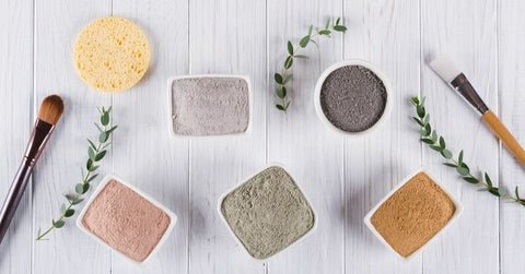 different colors of kaolin clay