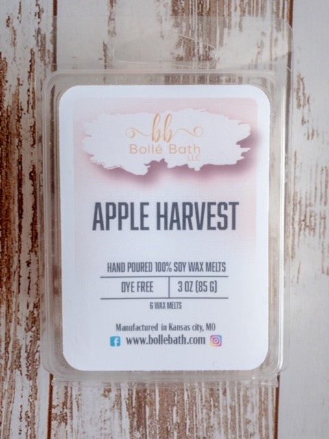 Apple Harvest Limited Edition Soy Wax Melt Clamshells