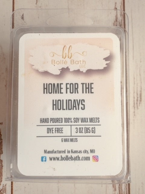 """Home for the Holidays"" Holiday Scented Wax Melts"