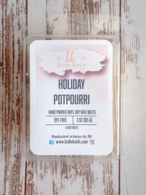 Holiday Potpourri Limited Edition Wax Melt Clamshell
