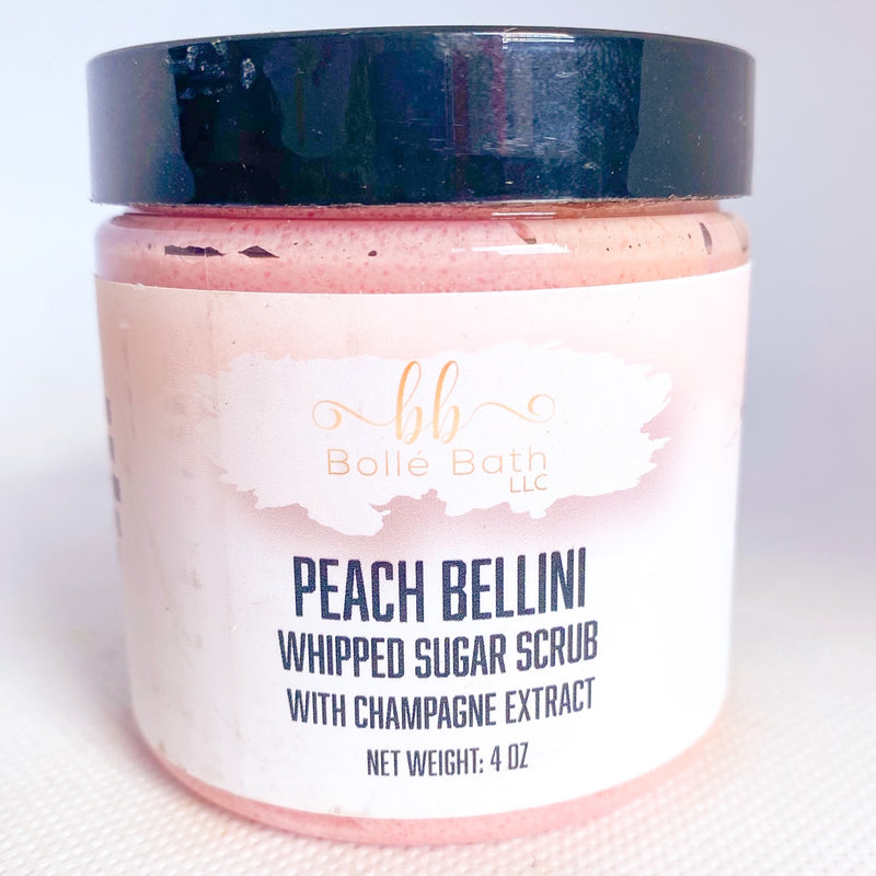 Peach Bellini Foaming Whipped Sugar Scrub