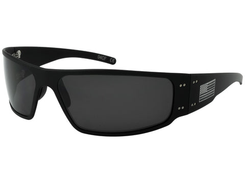 GATORZ PATRIOT - MAGNUM - AMERICAN FLAG - BLACK - SMOKED POLARIZED LENS