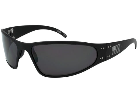 GATORZ PATRIOT - WRAPTOR - BLACK - AMERICAN FLAG - SMOKED POLARIZED LENS