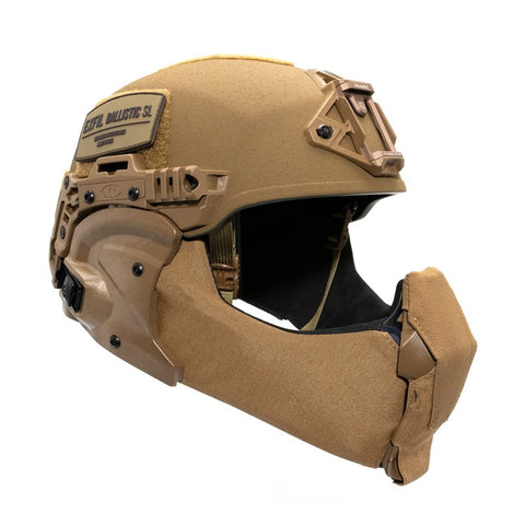 TEAM WENDY EXFIL BALLISTIC MANDIBLE: COYOTE BROWN - SIZE 2 XL
