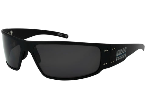 GATORZ - MAGNUM - THIN BLUE LINE - BLACK - SMOKED POLARIZED LENS