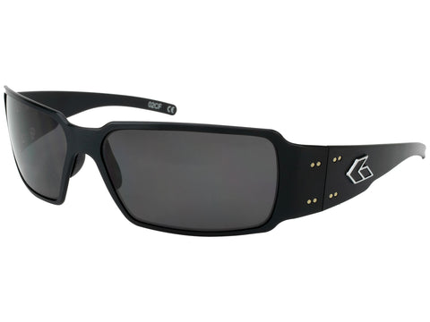 GATORZ BOXSTER - BLACK - SMOKED POLARIZED LENS