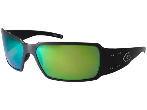 GATORZ BOXSTER - BLACK - BROWN POLARIZED W/ GREEN LENS