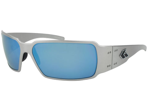 GATORZ BOXSTER - BRUSHED - SMOKED POLARIZED w/ BLUE MIRROR