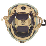 TEAM WENDY EXFIL BALLISTIC: COYOTE BROWN - SIZE 2 XL - RAIL 2.0 - LED (Left Eye Dominant) RETENTION