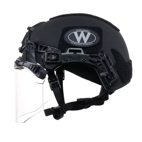 TEAM WENDY EXFIL FACE SHIELD: BLACK - SIZE 2 XL - RAIL 3.0 COMPATIBLE ONLY