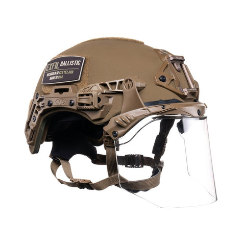 TEAM WENDY EXFIL FACE SHIELD: COYOTE BROWN - SIZE 1 M/L - RAIL 3.0 COMPATIBLE ONLY