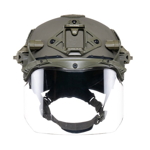 TEAM WENDY EXFIL FACE SHIELD: RANGER GREEN - SIZE 2 XL - RAIL 3.0 COMPATIBLE ONLY