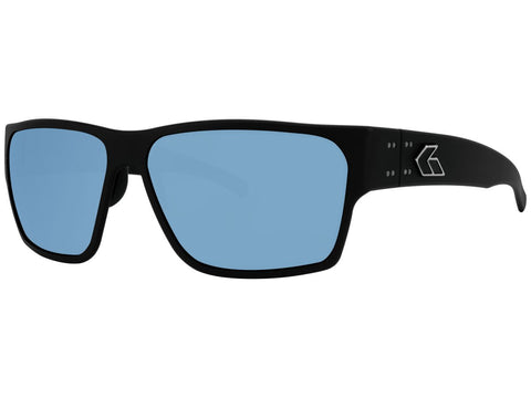 GATORZ DELTA - MATTE BLACK - SMOKED POLARIZED W/ BLUE MIRROR