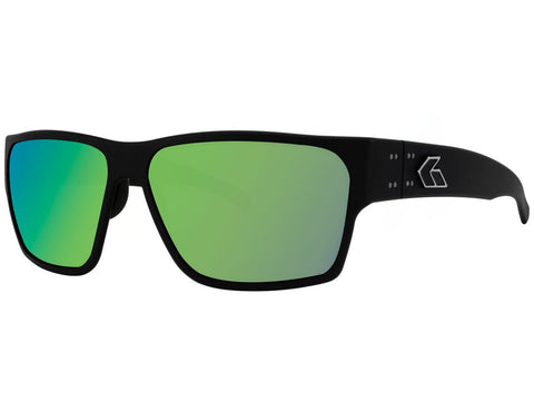 GATORZ DELTA - MATTE BLACK - BROWN POLARIZED W/ GREEN MIRROR