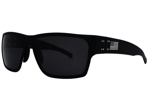 GATORZ DELTA - PATRIOT MATTE BLACK - SMOKED POLARIZED