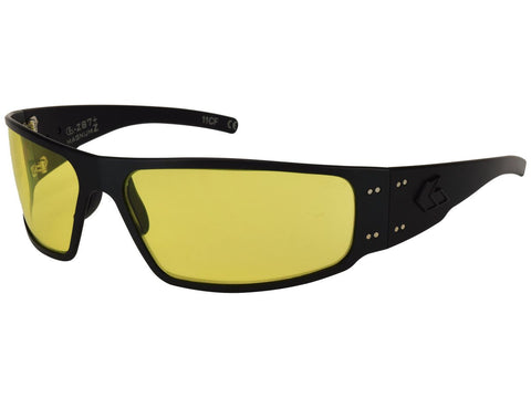GATORZ MAGNUM - ANSI Z87+ BLACK w/ YELLOW ANTI-FOG LENS