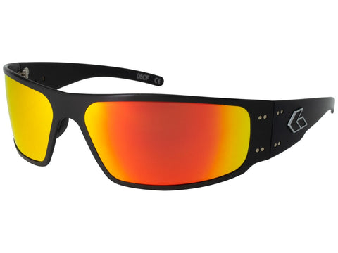 GATORZ MAGNUM - BLACK - SUNBURST MIRRORED POLARIZED LENS