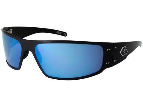 GATORZ MAGNUM - BLACK - SMOKED W/ BLUE MIRROR LENS