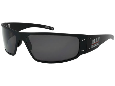 GATORZ - MAGNUM - THIN RED LINE - BLACK - SMOKED POLARIZED LENS