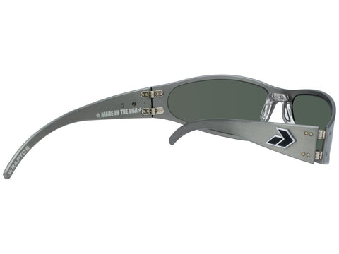 GATORZ WRAPTOR - GUN METAL - SMOKED POLARIZED LENS