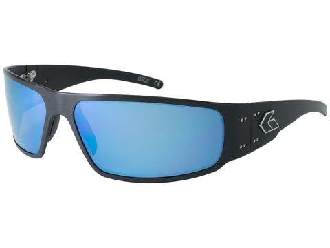 GATORZ MAGNUM 2.0 (ASIAN FIT) - BLACK - SMOKED POLARIZED W/ BLUE MIRROR LENS