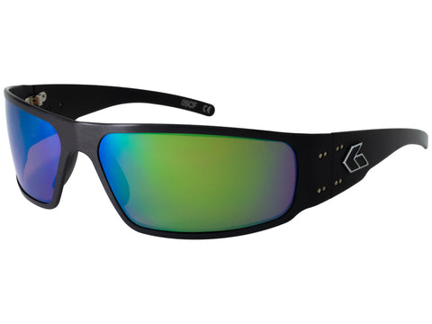 GATORZ MAGNUM 2.0 (ASIAN FIT) - BLACK - SMOKED POLARIZED W/ GREEN MIRROR LENS