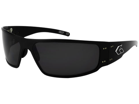 GATORZ MAGNUM - BLACK - SMOKED POLARIZED LENS