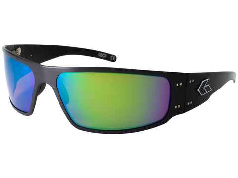 GATORZ MAGNUM - BLACK - BROWN POLARIZED W/GREEN MIRROR LENS